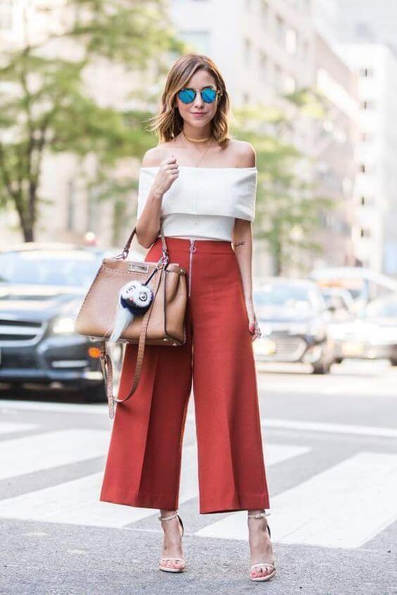 pantacourt vermelha - Como usar calça pantacourt? Vista-se sem errar!