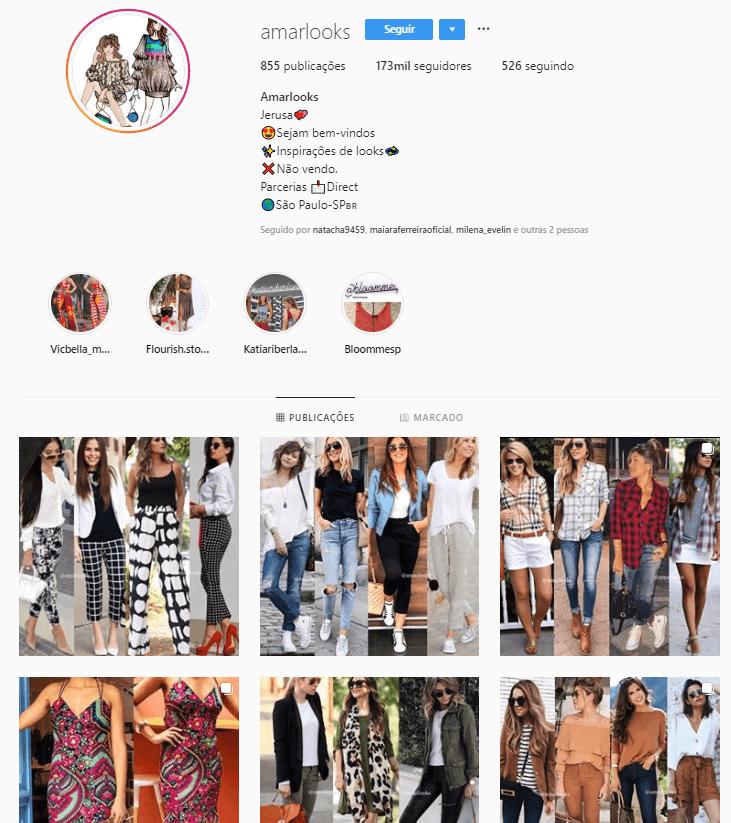 @amarlooks - Confira 6 perfis no Instagram com dicas e inspirações para criar look incríveis.