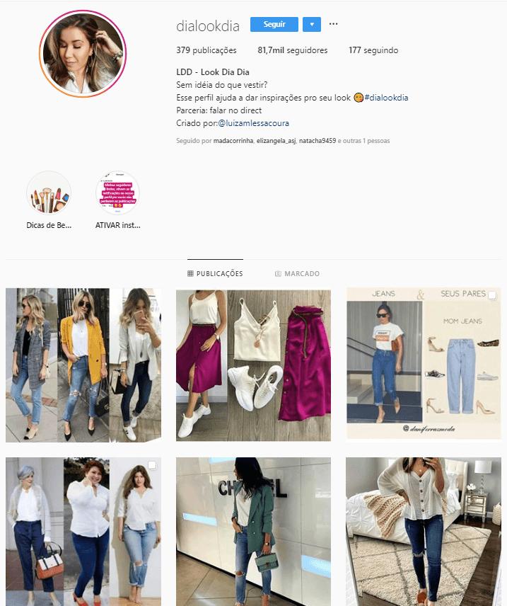 @dialookdia - Confira 6 perfis no Instagram com dicas e inspirações para criar look incríveis.