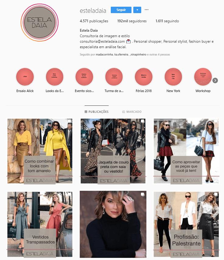 @esteladaia - Confira 6 perfis no Instagram com dicas e inspirações para criar look incríveis.