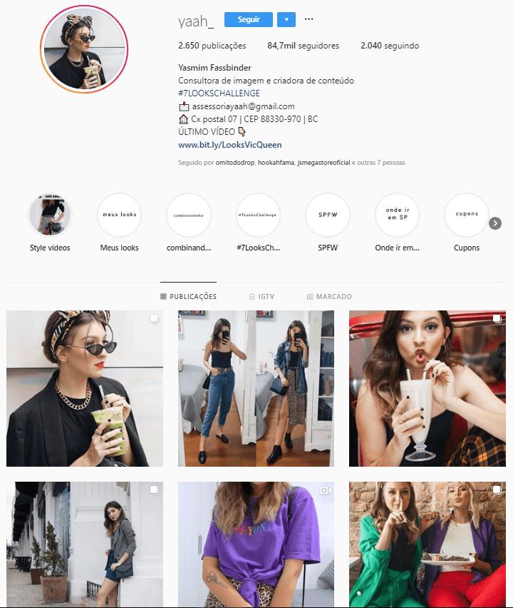 @yaah  - Confira 6 perfis no Instagram com dicas e inspirações para criar look incríveis.